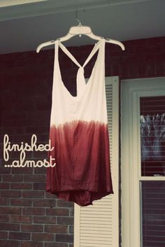 Cool DIY Fashion Ideas   Fun Do It Yourself Fashion projects   Learn how to refashion and sew jeans, T-shirts, skirts, and more   Ombre Tank   http://diyprojectsforteens.com/cool-diy-fashion-ideas/