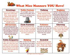 21 Best Kids Skills Images Manners For Kids Dining Etiquette