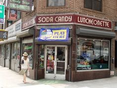 Lexington Candy Shop - old-timey diner & soda fountain. Cool collection of Coke bottles - Upper East Side