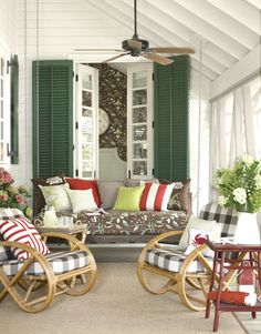 Cottage Front Porch: a great front porch for reading and sipping tea