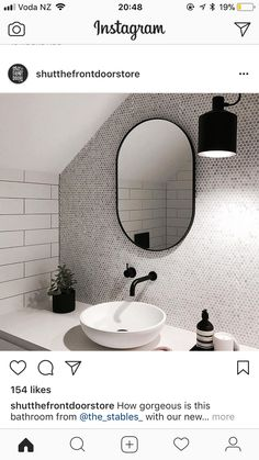White Bathroom Ideas - Discover the leading best white bathroom ideas featuring distinct faucet, fixture and also decor accents. Discover tidy as well as distinct home interior decoration ideas. Bathroom Renos, Laundry In Bathroom, White Bathroom, Modern Bathroom, Small Bathroom, Master Bathroom, Washroom, Loft Bathroom, Bathroom Feature Wall