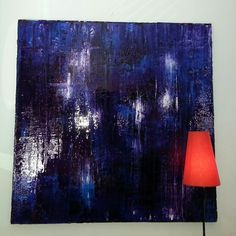 40x40 on canvas Plum Wine by Adam Fish