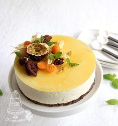 Kermaruusu: Passion-jogurttikakku Baking Recipes, Cake Recipes, Finnish Recipes, Just Eat It, Party Cakes, No Bake Cake, Sweet Recipes, Cake Decorating, Decorating Ideas