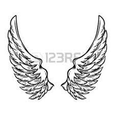 Picture of angel design elements - wings and golden halo isolated on the white background stock photo, images and stock photography. Cartoon Angel Wings, Angel Wings Drawing, Doodle Background, Background Design Vector, Feather Icon, Angel Vector, Sketch Icon, Feather Vector, Art Nouveau Illustration