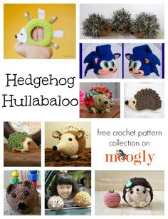 10 Free Crochet Hedgehog Patterns - a special collection on Moogly!