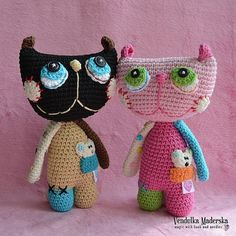 Crochet Pattern - Cat Lisa by VendulkaM /amigurumi, toy digital pattern/DIY Gato Crochet, Crochet Cat Toys, Crochet Cat Pattern, Crochet Motifs, Crochet Animals, Crochet Dolls, Free Pattern, Pattern Ideas, Crochet Squares
