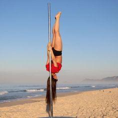 Pencil on the beach! #poledance #polesport