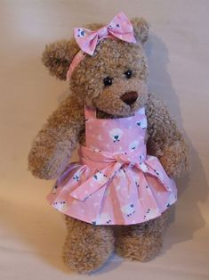 Image detail for -Teddy Bear Clothes Pink Sheep Summer Dress
