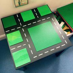IKEA lack table with Lego boards stuck on and stickers! Ein kleiner Hack mit IKEA und LEGO