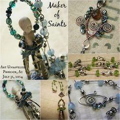 Saints collage. Deryn Mentock - she's amazing!