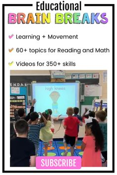Fluency and Fitness is the BEST site to integrate brain breaks and academic skills! Find tons of gre Brain Breaks For Kindergarten, Kindergarten Classroom Management, Teaching Kindergarten, Teaching Second Grade, Whole Brain Teaching, Second Grade Math, Teaching Rules, Teaching Posters, Senses Activities