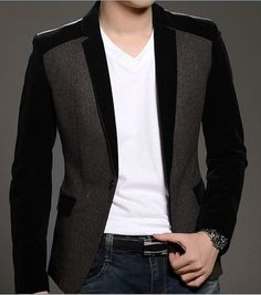 2017 Fashion Men Casual Slim Fit One Button Velvet Suit Blazer Coat Jackets Casual Blazer, Casual Outfits, Men Casual, Mens Fashion Blazer, Fashion Men, Men Blazer, Velvet Suit, Velvet Blazer, African Men Fashion