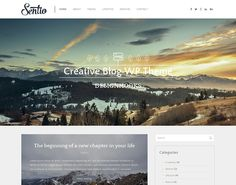 Sentio – free creative blog WordPress theme