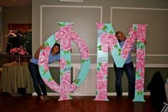 SO pretty......we are eventually repainting our letters this EXACTLY! brava phi mu!