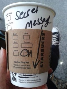 Ahhhhh I wish someone at Starbucks would do this for meeeeeeeee!!!!!! :D