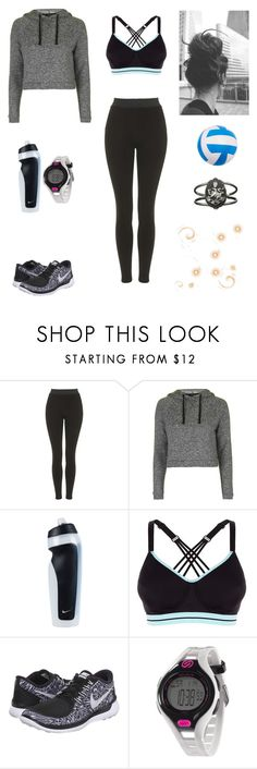 """Little Swan #5"" by jazmine-bowman on Polyvore featuring Topshop, NIKE and Soleus"