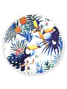 Tropical Toucan Round Towel