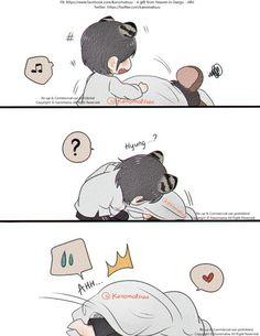YoonTae : Wake up , hyung ! by Kanomatsu on DeviantArt Taekook, Taehyung Fanart, Vkook Fanart, Bts Chibi, Yoonmin, Namjin, Vkook Memes, Bts Memes, Naruto Sasuke Sakura