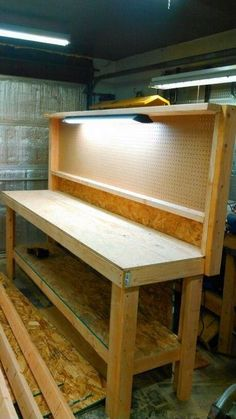 """Everyone knows a workbench should be rugged and massive, """"the bigger the better."""" But some years ago I set out to build a firm yet semi portable stand for teaching and demonstrating. The little workbench that eventually evolved is now… Continue Reading → Garage Workbench Plans, Building A Workbench, Workbench Designs, Woodworking Workbench, Woodworking Projects Diy, Workbench Ideas, Workbench Top, Folding Workbench, Garage Organization"""