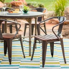 Jardin Outdoor Chair (set of 4) | Overstock.com Shopping - The Best Deals on Dining Chairs  Sale: $148.39 for 4