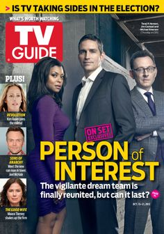 October 15, 2012. Taraji P. Henson, Jim Caviezel and Michael Emerson of Person of Interest