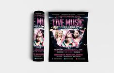 """Live Music Flyer Template Features: • Size: 1275×1875px (4×6"""") Bleeds 0.25"""" • Fully editable + Full layered • Photoshop Version: CS5 or Higher • Resolution: 300dpi • CMYK Colors Notes: • Model not included in download file. #abstract #acoustic #advertising #art #background #band #banner #black #blues #brochure #ciusan #club #concept #concert #creative #design #disco #entertainment #event #festival #flyer #graphic #grunge #guitar #illustration #indie #instrument #jazz #light #live #mic #mode New Year's Eve Flyer, Music Flyer, Festival Flyer, Party Flyer, Art Background, Print Templates, Live Music, Flyer Template, Creative Design"""