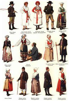 Svenska folkdräkter, del1, Nordisk familjebok - Svenska folkdräkter – Wikipedia