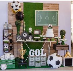 Sports Themed Birthday Party, Soccer Birthday Parties, Football Birthday, Soccer Party, Sports Party, Soccer Baby Showers, Soccer Banquet, Football Themes, Party Time