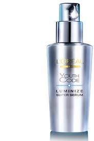 l'oreal luminize code serum. I love this because it actually works. My skin looks so much better for using it!