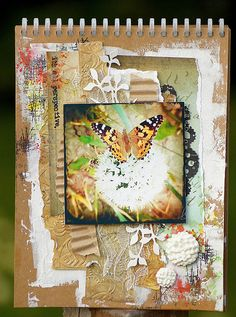 Summer art journal page