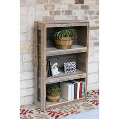 Embrace cozy farmhouse vibes when you decorate your space with this weathered shelf crafted from reclaimed wood. Coastal Furniture, Black Furniture, Shabby Chic Furniture, Living Room Furniture, Modern Furniture, Rustic Shelves, Bookshelves, Natural, Wood