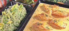 Broileripihvit mandariini-rosmariinikastikkeessa Food N, Food And Drink, Bird Food, Thai Red Curry, Shrimp, Salads, Easy Meals, Chicken, Meat