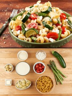 Cavatappi Pasta with goat cheese... Spring Pasta anytime of year ...