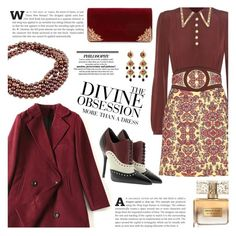 """""""Party On: Long Sleeve Dresses"""" by sinesnsingularities ❤ liked on Polyvore featuring Coach, Gucci, Givenchy, Vera Wang, La Regale, DaVonna, Jose & Maria Barrera, longsleeve and contestentry"""