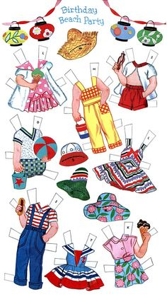 Paper Dolls~Birthday Party - Bonnie Jones - Picasa Web Album