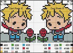 pattern the little prince cross stitch