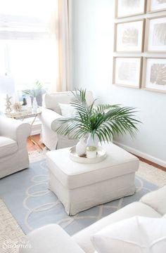 Home Decor Styles, Coastal Living Room, Tropical Home Decor, Furniture Slipcovers, Coastal Wall Decor, Coastal Living Rooms, Tropical Decor, Coastal Chic Living Room, Living Decor