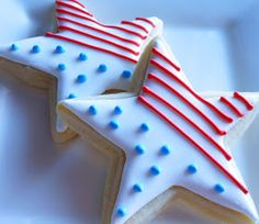 Patriotic Star Cookies (with instructions)