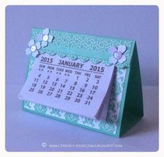 Stampin Up, handmade desk calendar