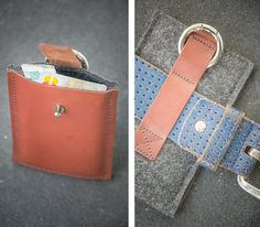 LEATHER & FELT made to measure phone case  by BRIGHTfeltANDleather