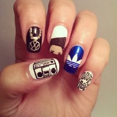 1980's nails by Kristin Day! How cool!