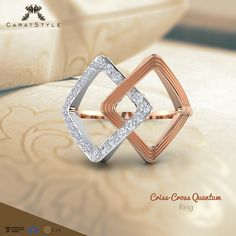 They say love is a tangled web, untangle it with the criss-cross Quantum #ring…