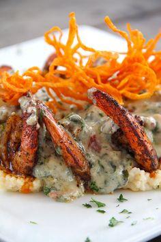 Grits A Ya Ya & The Shrimp Ya Ya- Served at Great Southern Cafe in
