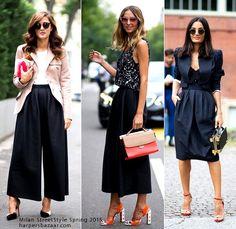 Milan Street Style Spring 2015 - spódnico spodnie
