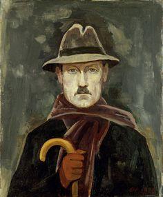 Karl Hofer, Selbstbildnis im Winter, 1920.