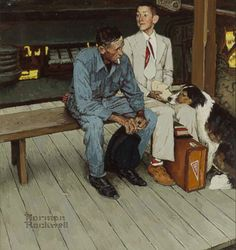 """Color Study for 'Breaking Home Ties', 1954."" (Norman Rockwell/Courtesy Sothebys New York)"