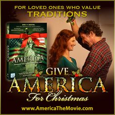 Christmas Tradition #12: Mistletoe. Facebook Christmas campaign for the Dinesh D'Souza film, AMERICA: Imagine the World Without Her.