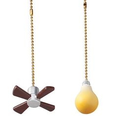 Check out Miles Kimball fan & light pulls that take the guesswork out of ceiling fan lights. Each pull adds extra length to controls for easier use. Shop now! Bedroom Fan, Ceiling Fan Pulls, Door Sweep, Light Chain, Light Pull, Cutest Thing Ever, Great Christmas Gifts, Metal Chain, Ceiling Lights
