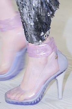 Pastel transparency // plastic shoes