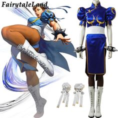 New Street Fighter Chun Li Cosplay Boots Custom Made Any Size